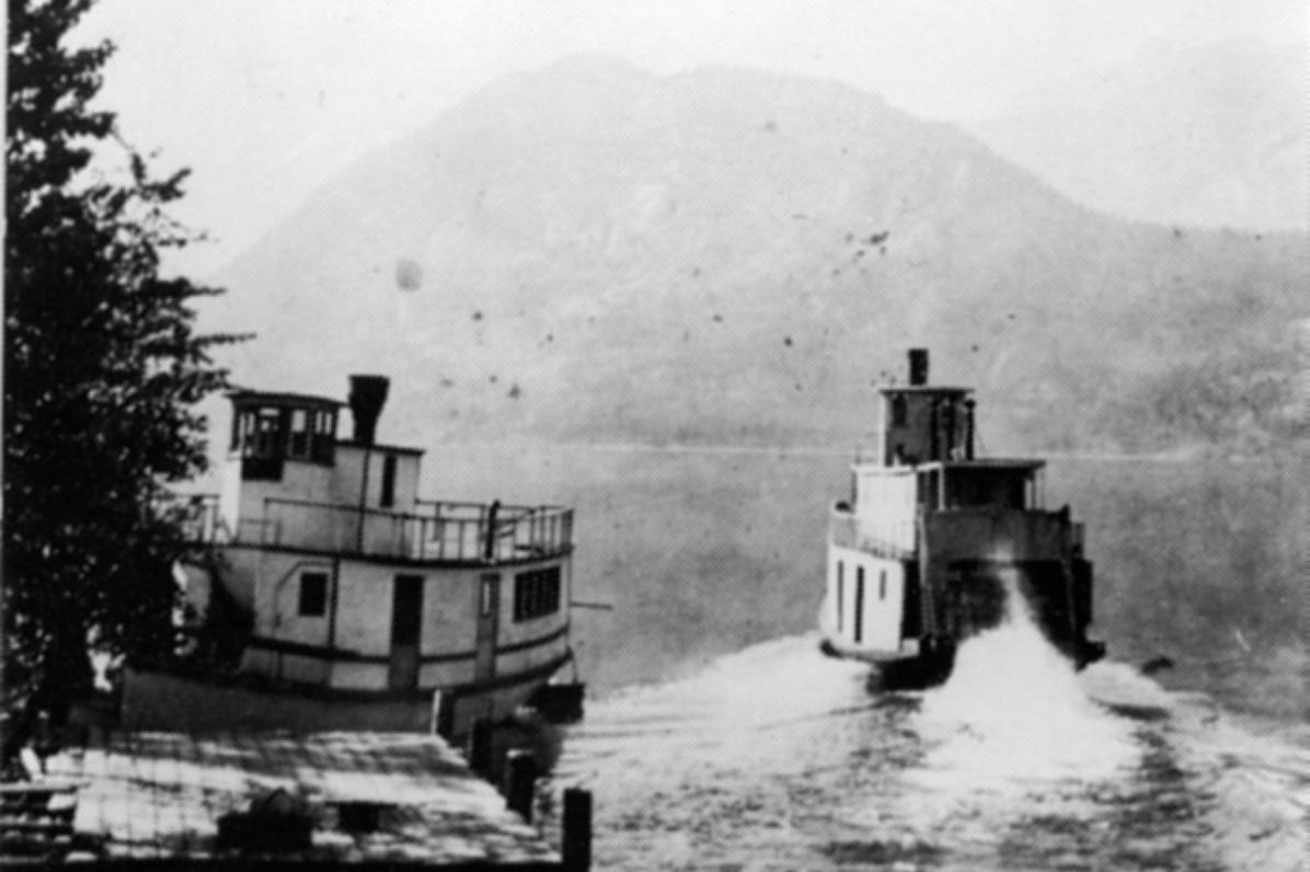 Swan (docked) and Stehekin