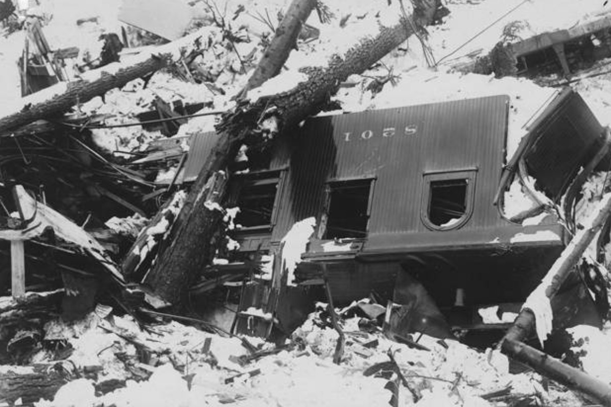 Wreckage of Train Car after Wellington Disaster