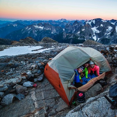 Back country wilderness backpacking North Cascades