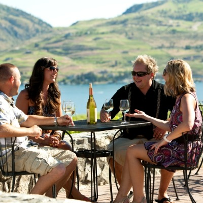Wine Tasting overlooking Lake Chelan