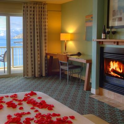 Campbells Fireplace Rose Petal Room